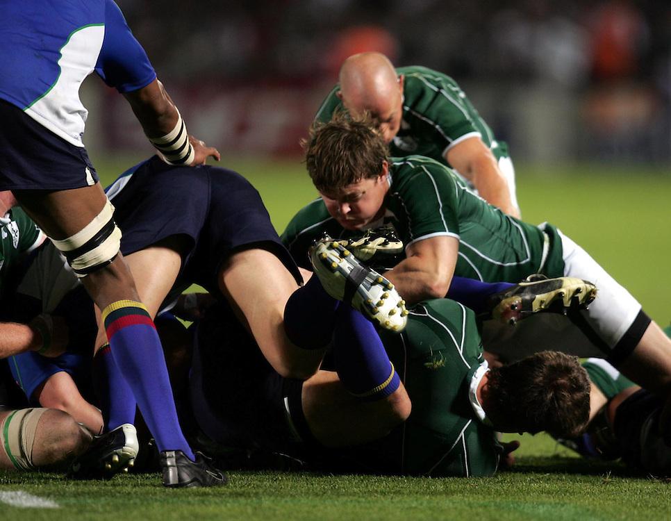 Brian O'Driscoll of Ireland. Ireland v Namibia, Bordeaux, 9th September 2007.