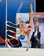 Ana Luiza Filiorianu from Rhytmic Scool team during the Italian Rhythmic Gymnastics Championship in Padova, 25 November 2017.