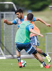 03.06.2015, Steinbergstadion, Leogang, AUT, U 21 EM, Vorbereitung Deutschland, im Bild vl.: Emre Can (FC Liverpool, Deutschland U21) und Yunus Malli (FSV Mainz 05, Deutschland U21) // during Trainingscamp of Team Germany for Preparation of the UEFA European Under 21 Championship at the Steinbergstadium in Leogang, Austria on 2015/06/03. EXPA Pictures © 2015, PhotoCredit: EXPA/ JFK