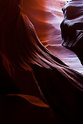 Some of the rock formations in the Upper Antelope  Canyon resemble faces or animals