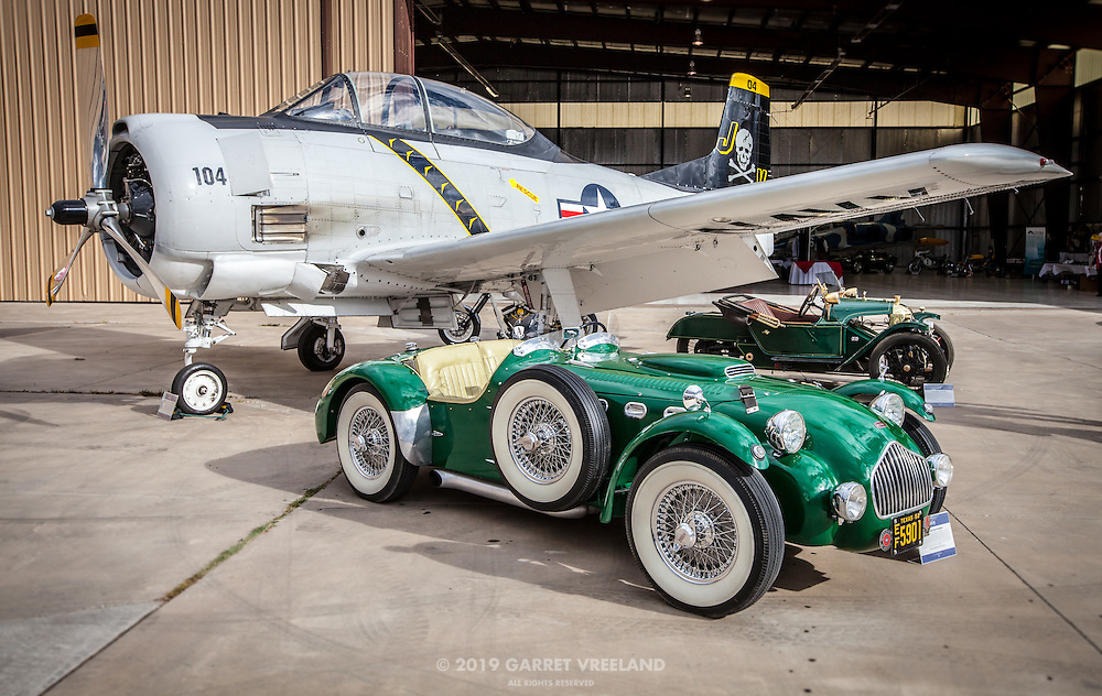 Allard, T-28 Trojan, Morgan Tableau, Planes and Cars at the Santa Fe Airport, 2013 Santa Fe Concorso.