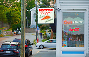 """351021-1040G.Huey ~ Copyright: George H.H. Huey ~ The restaurant """"Mystic Pizza', made famous in 1988 movie with Julia Roberts.  Mystic, Connecticut."""