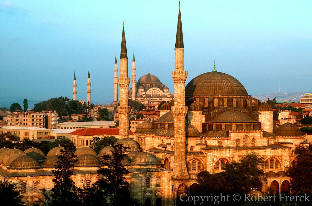 TURKEY, ISTANBUL, OTTOMAN Shezade and Süleymaniye mosques