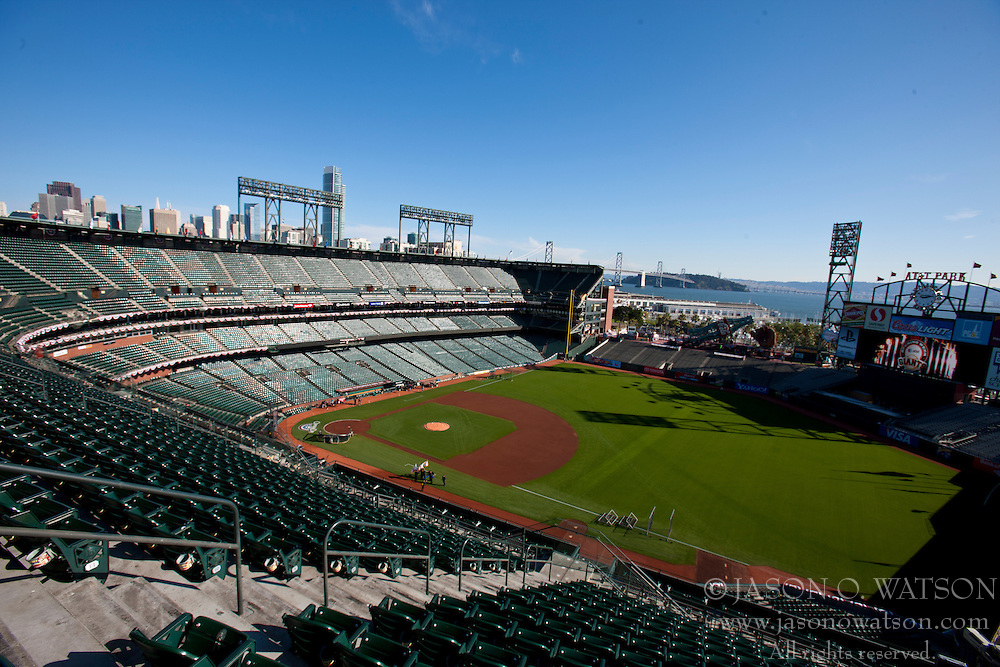 April 8, 2011; San Francisco, CA, USA;  General view of AT&T Park before the game between the San Francisco Giants and the St. Louis Cardinals.