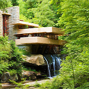 &quot;Fallingwater Painterly 3&quot;<br />