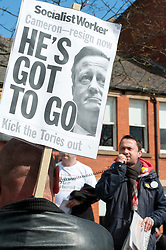 Demonstrators form up on Devonshire Green to March to the rally held in Barkerspool Sheffield on Saturday 9 April, to protest against the Department for Business, Innovation and Skills (BIS) announcement that it will close BIS Sheffield, its biggest office outside London.<br /> <br />  09 April 2016<br />  Copyright Paul David Drabble<br />  www.pauldaviddrabble.photoshelter.com<br />  www.pauldaviddrabble.co.uk