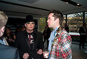 BOY GEORGE; RUFUS WAINWRIGHT, Prima Donna opening night. Sadler's Wells Theatre, Rosebery Avenue, London EC1, Premiere of Rufus Wainwright's opera. 13 April 2010