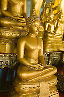 Buddhas at Golden Mount Wat Saket Bangkok&#xA;<br />