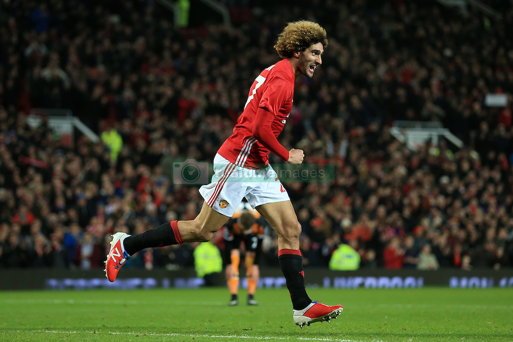 10th January 2017 - EFL Cup (Semi-Final) - Manchester United v Hull City - Marouane Fellaini of Man Utd celebrates after scoring their 2nd goal - Photo: Simon Stacpoole / Offside.