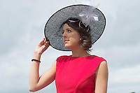 03/08/2014 Tanya Byrne from Portumna at the Final day of the Galway Racing Summer Festival. Photo:Andrew Downes