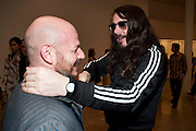 STEPHAN HOMANN; JONATHAN MEESE;, MOCA RECEPTION, Opening of ÔJonathan Meese: SculptureÔ, from the Knight Exhibition Series. Also on view: ÔBruce Weber: Haiti / Little HaitiÔ, Hosted by Bonnie Clearwater and Vanity Fair International. Museum of Contemporary Art, 770 NE 125 Street, North Miami 30 NOVEMBER 2010. -DO NOT ARCHIVE-© Copyright Photograph by Dafydd Jones. 248 Clapham Rd. London SW9 0PZ. Tel 0207 820 0771. www.dafjones.com.<br /> STEPHAN HOMANN; JONATHAN MEESE;, MOCA RECEPTION, Opening of 'Jonathan Meese: Sculpture', from the Knight Exhibition Series. Also on view: 'Bruce Weber: Haiti / Little Haiti', Hosted by Bonnie Clearwater and Vanity Fair International. Museum of Contemporary Art, 770 NE 125 Street, North Miami 30 NOVEMBER 2010. -DO NOT ARCHIVE-© Copyright Photograph by Dafydd Jones. 248 Clapham Rd. London SW9 0PZ. Tel 0207 820 0771. www.dafjones.com.