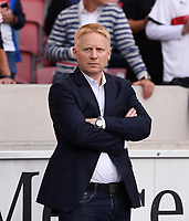 Fussball  1. Bundesliga  Saison 2018/2019  2. Spieltag  VfB Stuttgart - FC Bayern Muenchen         01.09.2018 Pressesprecher Tobias Herwerth (VfB Stuttgart)  DFL regulations prohibit any use of photographs as image sequences and/or quasi-video.