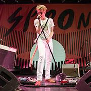 Spoon perform at Merriweather Post Pavilion.