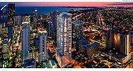 Background image with composed rendering for Flatiron Miami.