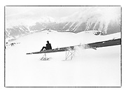 HUGO SPOWERS, Dangerous Sports Club Ski race, St. Moritz, March 1983.