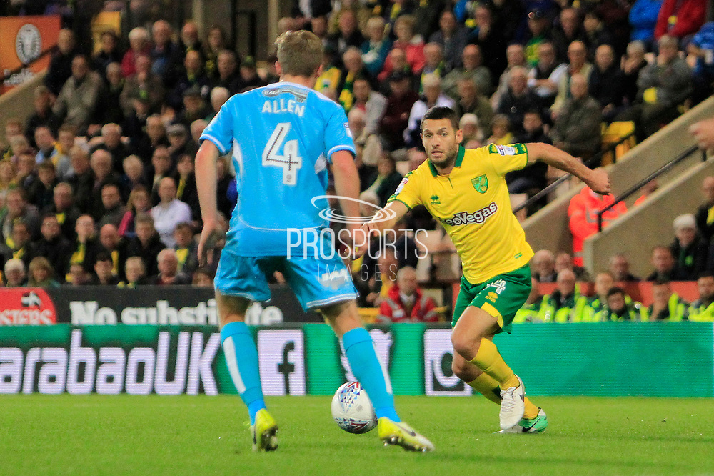 Norwich City midfielder Wes Hoolahan (14) during the EFL Sky Bet Championship match between Norwich City and Burton Albion at Carrow Road, Norwich, England on 12 September 2017. Photo by Richard Holmes.