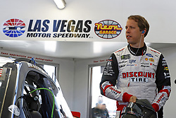 March 2, 2018 - Las Vegas, Nevada, United States of America - March 02, 2018 - Las Vegas, Nevada, USA: Brad Keselowski (2) hangs out in the garage during practice for the Pennzoil 400 at Las Vegas Motor Speedway in Las Vegas, Nevada. (Credit Image: © Justin R. Noe Asp Inc/ASP via ZUMA Wire)