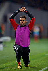 TBILSI, GEORGIA - Friday, October 6, 2017: Wales' substitute Hal Robson-Kanu warms-up during the 2018 FIFA World Cup Qualifying Group D match between Georgia and Wales at the Boris Paichadze Dinamo Arena. (Pic by David Rawcliffe/Propaganda)