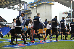 12 March 2017 - The FA Cup - (Sixth Round) - Tottenham Hotspur v Millwall - Spurs players walk out for what will be the final FA Cup match to be held at the Stadium in its current form - Photo: Marc Atkins / Offside.