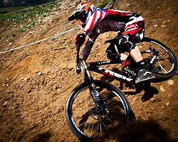 12.06.2011, Bikepark, Leogang, AUT, UCI MOUNTAINBIKE WORLDCUP, LEOGANG, im Bild Aaron Gwin, USA, Sieger // during the UCI MOUNTAINBIKE WORLDCUP, LEOGANG, AUSTRIA, 2011-06-12, EXPA Pictures © 2011, PhotoCredit: EXPA/ J. Feichter
