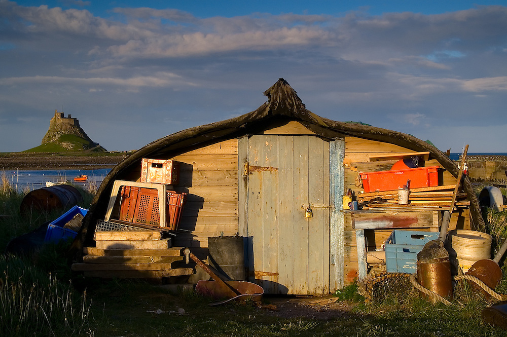One of the wonderful upside down boats that now provides a shed for the locals on Holy Island.