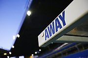 General View of away dugout sign inside of St Andrew's Trillion Trophy Stadium ahead of the EFL Sky Bet League 1 match between Coventry City and Portsmouth at the Trillion Trophy Stadium, Birmingham, England on 11 February 2020.