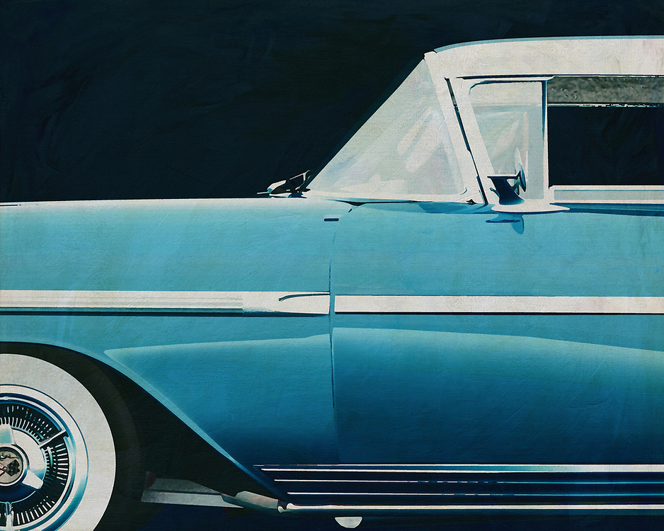 If you want to give your interior an extra stylish detail, this painting by a Chevrolette Impala Special Sport Edition from 1958 is perfect. –<br />