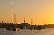 Newport Beach California At Sunset