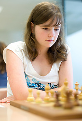 Natasa Bucar in action during the Slovenian National Chess Championships in Ljubljana on August 9, 2010.  (Photo by Vid Ponikvar / Sportida)