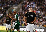 STOCKHOLM 2016-08-04<br /> KVAL TILL EUROPA LEAGUE AIK VS PANATHINAIKOS<br /> Eero Markkanen i AIK deppar under matchen mellan AIK och Panathinaikos p&aring; Tele2 Arena, torsdag den 4 augusti 2016.<br /> Foto: Nils Petter Nilsson/Ombrello<br /> ***BETALBILD***