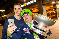Klemen Prepelic of Slovenia and Aleksander Javornik at Fans' reception of Team Slovenia after the basketball match between National Teams of Slovenia and Greece at Day 4 of the FIBA EuroBasket 2017  in Teerenpeli bar, Helsinki, Finland on September 3, 2017. Photo by Vid Ponikvar / Sportida