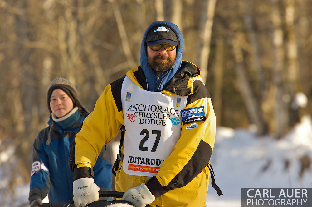 March 7th, 2009:  Anchorage, Alaska - Tom Thurston of Oak Creek, Colorado during the 2009 Iditarod Ceremonial Start.