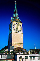 St. Peter's kirche (church), Zurich, Switzerland