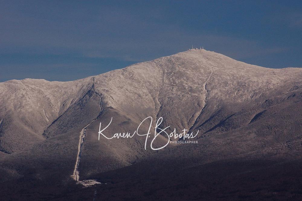 Mt Washington with early snowfall.  ©2008 Karen Bobotas Photographer