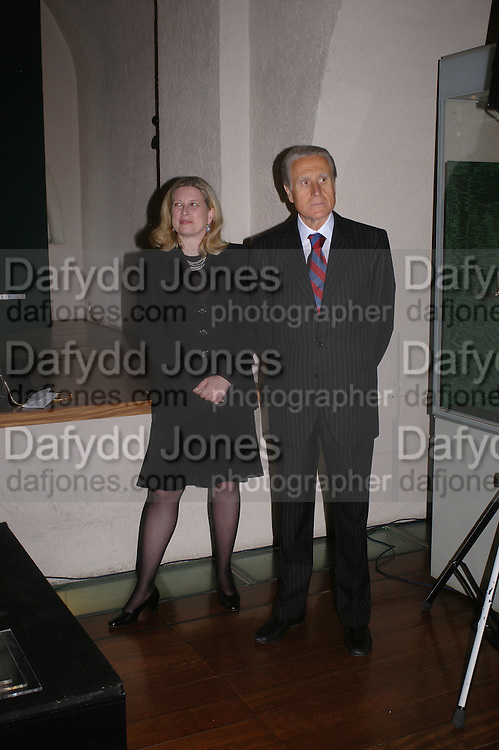 Susan Soros and HE the Italian Ambassador. Private view of Castellani and Italian Archaeological Jewellery. Gilbert Collection, Somerset House. 4 May 2005. ONE TIME USE ONLY - DO NOT ARCHIVE  © Copyright Photograph by Dafydd Jones 66 Stockwell Park Rd. London SW9 0DA Tel 020 7733 0108 www.dafjones.com
