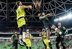 Devin Oliver of Petrol Olimpija dunks during friendly basketball match between KK Petrol Olimpija and BC Fenerbahce Dogus Istanbul, at Arena Stozice, Ljubljana, Slovenia on September 25, 2017. Photo by Vid Ponikvar / Sportida
