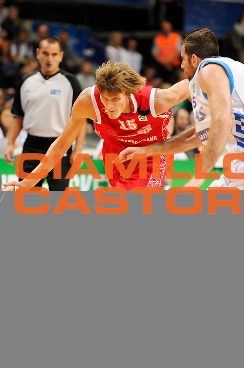 DESCRIZIONE : Vilnius Lithuania Lituania Eurobasket Men 2011 Second Round Grecia Russia Greece Russia<br /> GIOCATORE : Andrei Kirilenko<br /> SQUADRA : Russia<br /> EVENTO : Eurobasket Men 2011<br /> GARA : Grecia Russia Greece Russia<br /> DATA : 10/09/2011<br /> CATEGORIA : palleggio<br /> SPORT : Pallacanestro <br /> AUTORE : Agenzia Ciamillo-Castoria/JF Molliere<br /> Galleria : Eurobasket Men 2011<br /> Fotonotizia : Vilnius Lithuania Lituania Eurobasket Men 2011 Second Round Grecia Russia Greece Russia<br /> Predefinita :