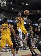 Nov 22, 2017; Los Angeles, CA, USA; Southern California Trojans guard Shaqquan Aaron (0) shoots the ball against the Lehigh Mountain Hawks during an NCAA basketball game at Galen Center. USC defeated Lehigh 88-63.