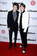 Tegan & Sara attend the 2013 Billboard Women in Music Luncheon at Capitale in New York City, New York on December 10, 2013.