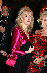 Left to right, DONATELLA FLICK and COUNTESS GUNILLA VON BISMARCK at Andy & Patti Wong's Chinese New Year party to celebrate the year of the Rooster held at the Great Eastern Hotel, Liverpool Street, London on 29th January 2005.  Guests were invited to dress in 1920's Shanghai fashion.<br />