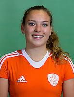 DELFT - Mila Muyselaar. Nederlands zaalhockeyteam dames voor EK in Minsk. COPYRIGHT KOEN SUYK