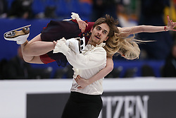 January 20, 2018 - Moscow, Russia - Anna Yanovskaya and Adam Lukacs of Hungary perform during an ice dance free dance event at the 2018 ISU European Figure Skating Championships, at Megasport Arena in Moscow, on January 20, 2018. (Credit Image: © Igor Russak/NurPhoto via ZUMA Press)