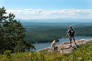 Looking over Lake Dunmore and the Champlain Valley from the Moosalamoo National Recreation Area, Vermont with the Adirondacks in the distance.