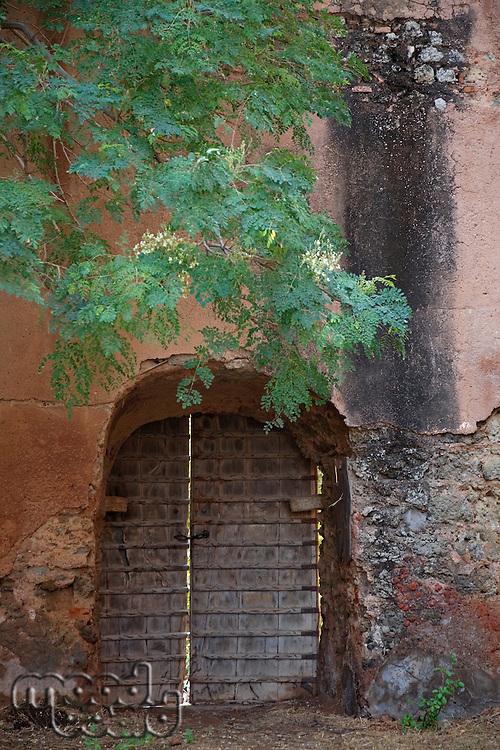 Rajasthan India door in wall