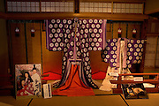 "Heian era (794-1185) costumes used in a Japanese film based on ""The Tale of Genji"" are now on display at the Ishiyamadera Temple as part of the year-long celebration marking the 1,000 anniversary of the ""The Tale of Genji"".."