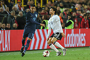 Jess Lingard of England battles with Leroy Sane of Germany during the International Friendly match between Germany and England at Signal Iduna Park, Dortmund, Germany on 22 March 2017. Photo by Phil Duncan.