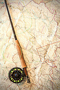 Fly rod with map