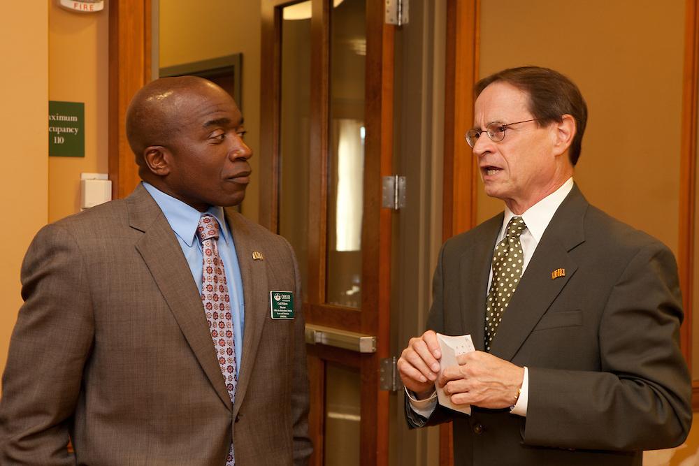 Dr. David Descutner at the Black Alumni Reunion Welcome Reception at Baker Center on September 27, 2013.