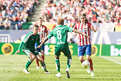 02.04.2016, Estadio San Mames, Bilbao, ESP, Primera Division, Athletic Club vs Real Betis, 31. Runde, im Bild Atletico de Madrid's Filipe Luis and Real Betis's Kadir and Musonda Jr. // during the Spanish Primera Division 31th round match between Athletic Club and Real Betis at the Estadio San Mames in Bilbao, Spain on 2016/04/02. EXPA Pictures © 2016, PhotoCredit: EXPA/ Alterphotos/ Borja B.Hojas<br /> <br /> *****ATTENTION - OUT of ESP, SUI*****