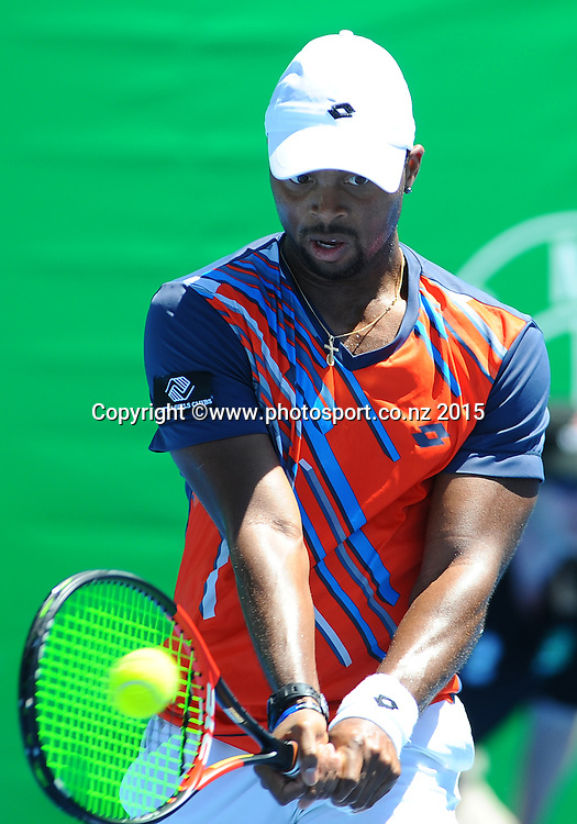 Donald Young from the USA during his singles match at the Heineken Open. ASB Tennis Centre, Auckland, New Zealand. Tuesday 13 January 2015. Copyright photo: Chris Symes/www.photosport.co.nz